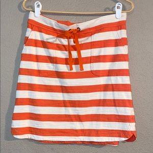 Orange White Caslon Size S Midi Dress